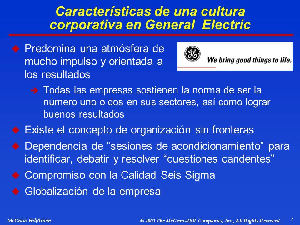 Características de una cultura corporativa en General Electric