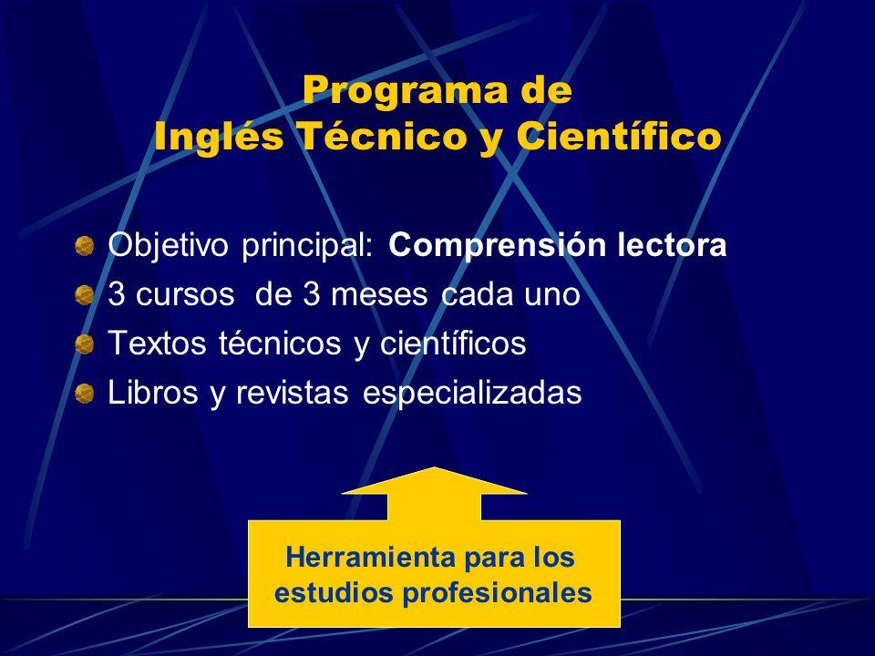 Programa de Inglés Técnico y Científico