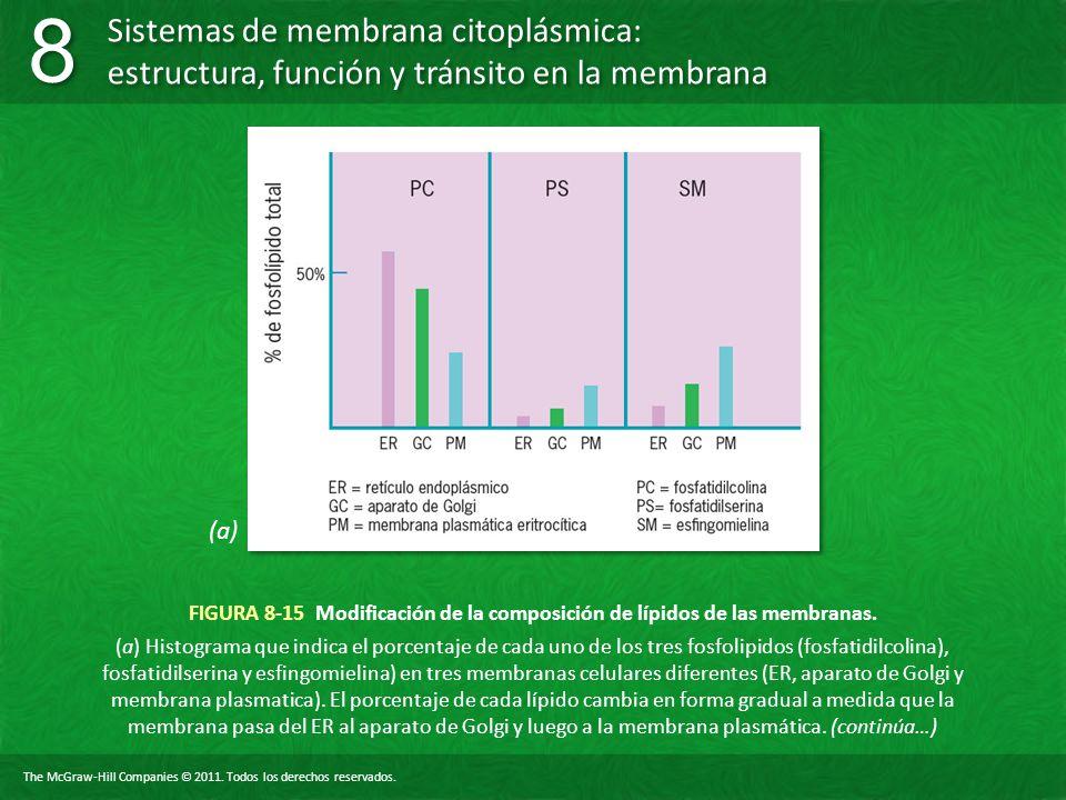 (a) FIGURA 8-15 Modificación de la composición de lípidos de las membranas.