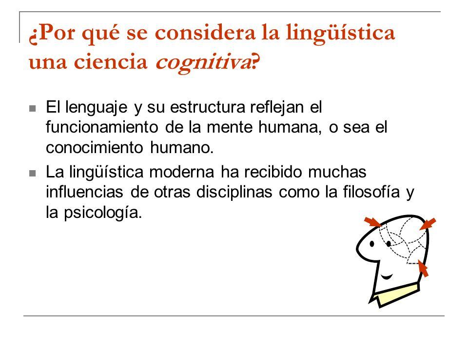 ¿Por qué se considera la lingüística una ciencia cognitiva