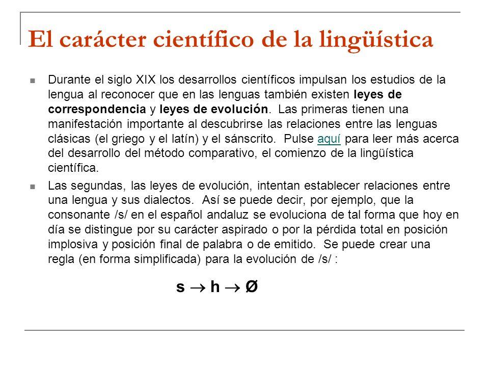 El carácter científico de la lingüística