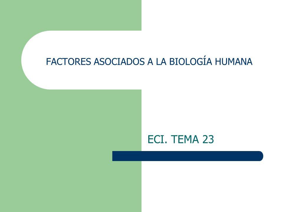 FACTORES ASOCIADOS A LA BIOLOGÍA HUMANA