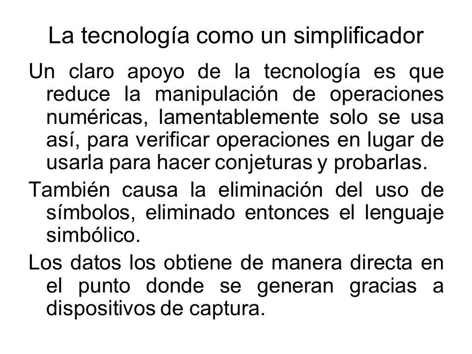 La tecnología como un simplificador