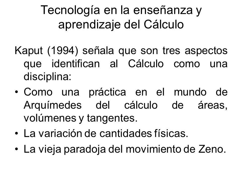 Tecnología en la enseñanza y aprendizaje del Cálculo