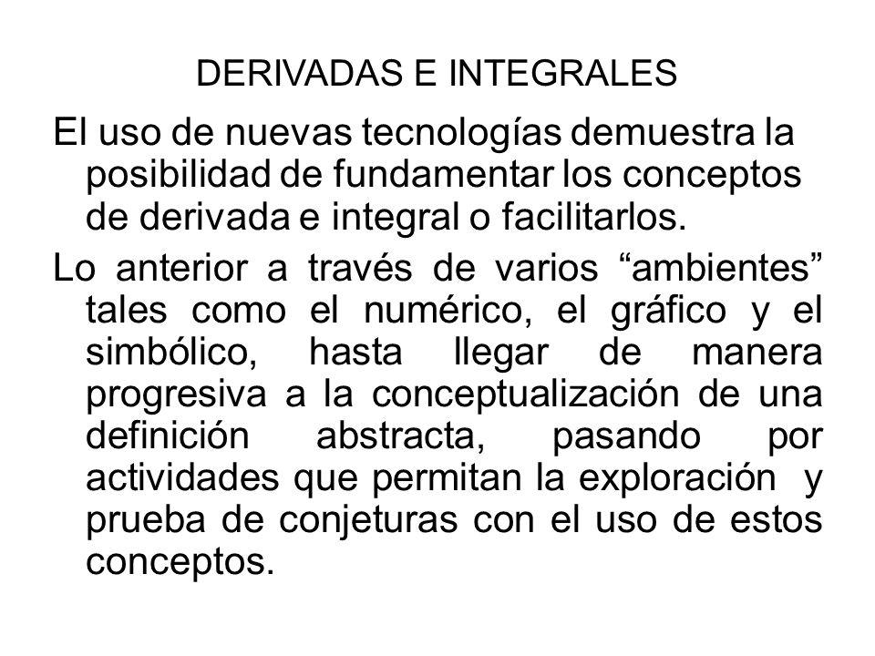 DERIVADAS E INTEGRALES