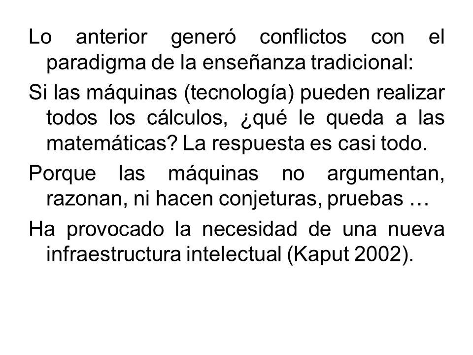 Lo anterior generó conflictos con el paradigma de la enseñanza tradicional: