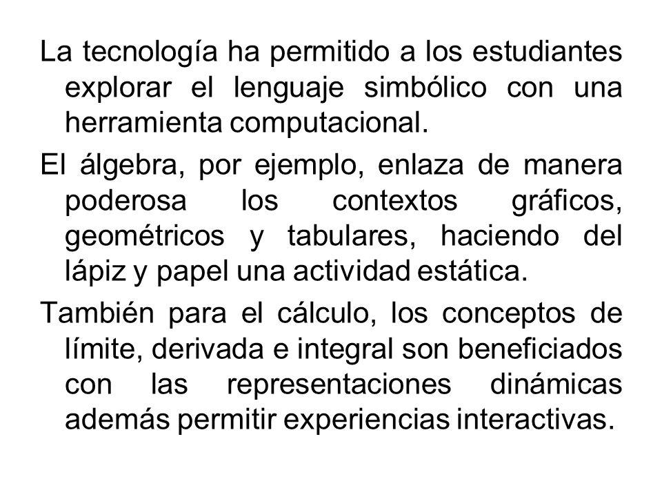 La tecnología ha permitido a los estudiantes explorar el lenguaje simbólico con una herramienta computacional.