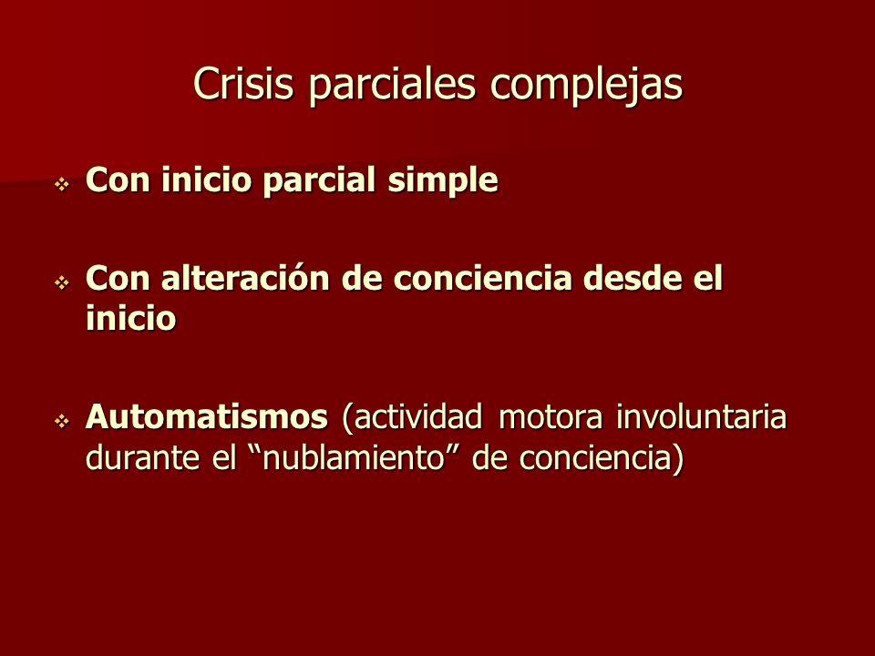 Crisis parciales complejas