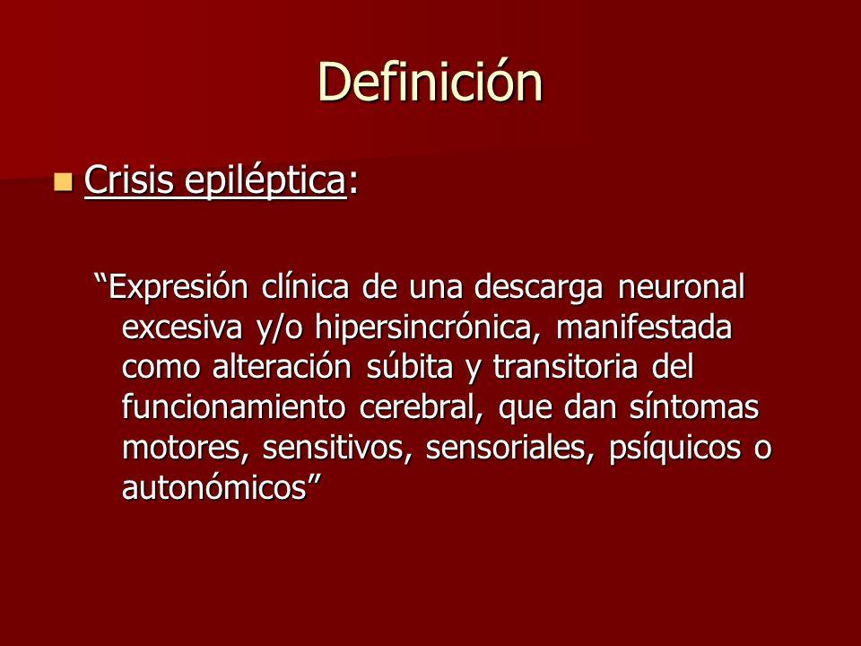 Definición Crisis epiléptica: