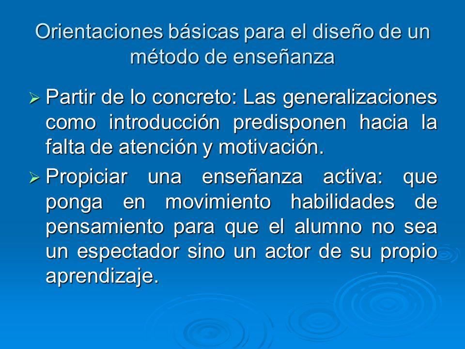 Orientaciones básicas para el diseño de un método de enseñanza