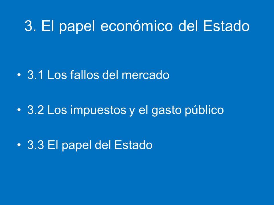3. El papel económico del Estado