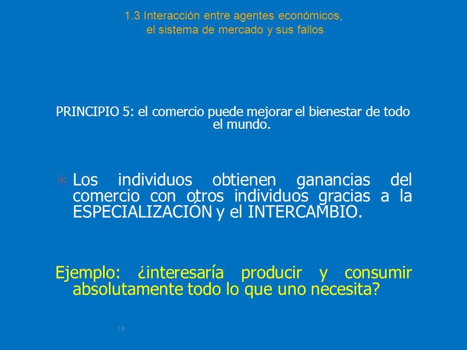PRINCIPIO 5: el comercio puede mejorar el bienestar de todo el mundo.