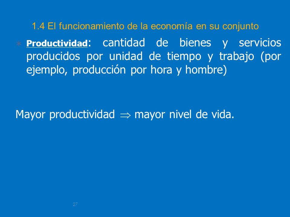 1.4 El funcionamiento de la economía en su conjunto