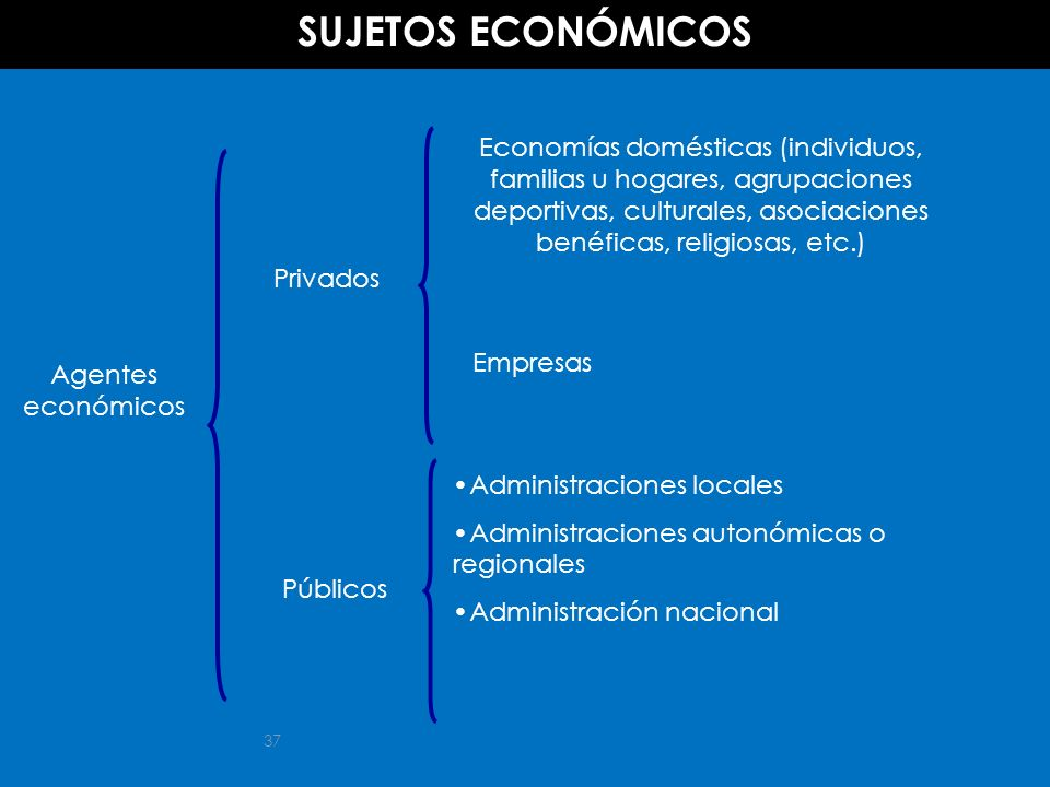 SUJETOS ECONÓMICOS