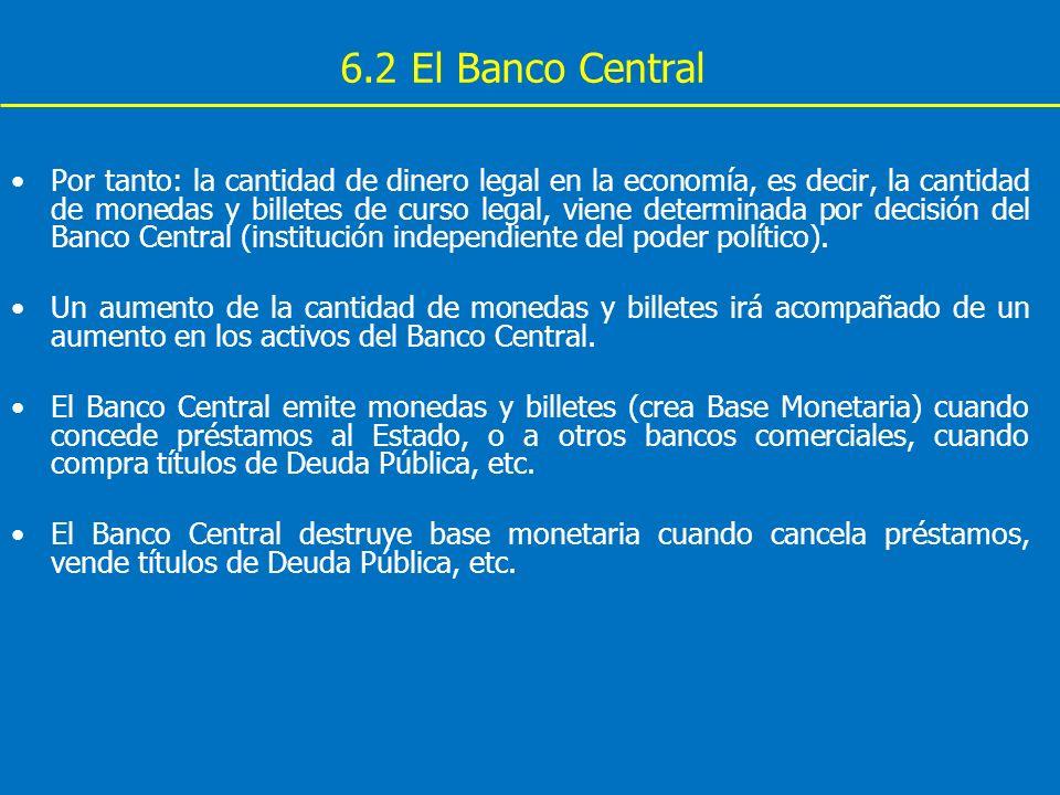 6.2 El Banco Central