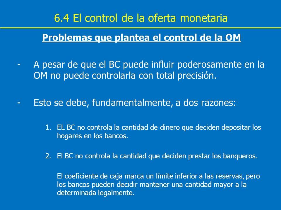 6.4 El control de la oferta monetaria