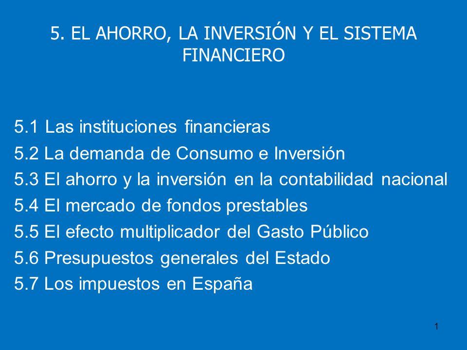 5. EL AHORRO, LA INVERSIÓN Y EL SISTEMA FINANCIERO