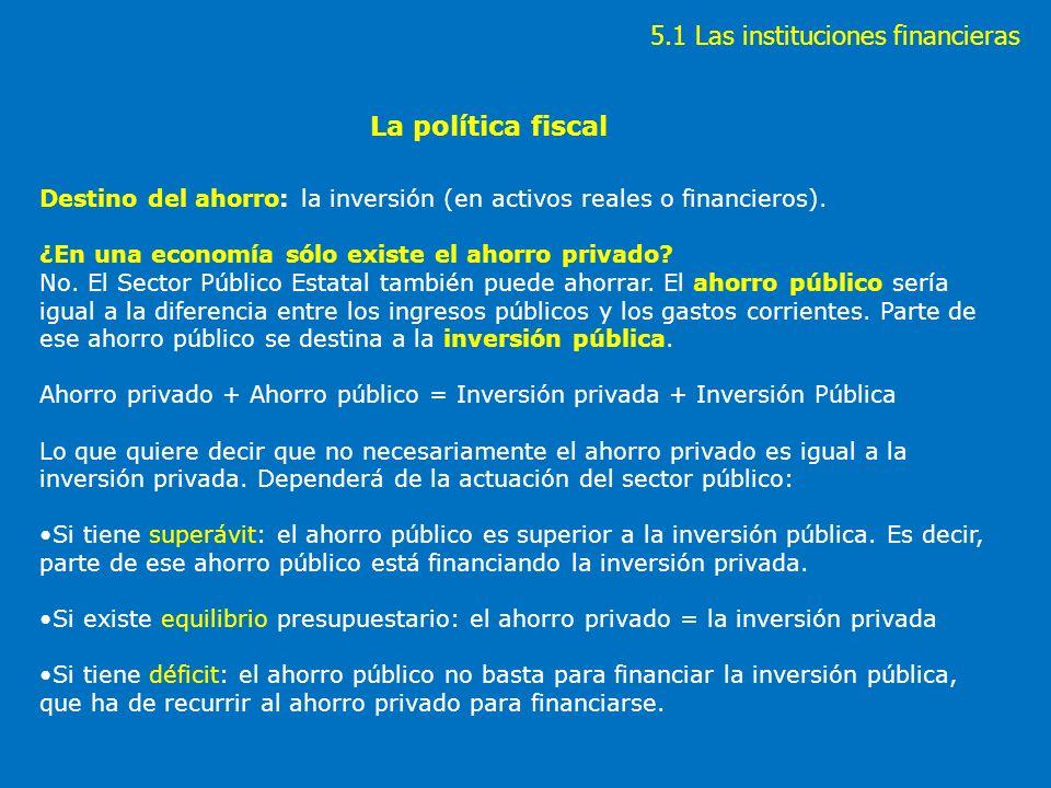 5.1 Las instituciones financieras