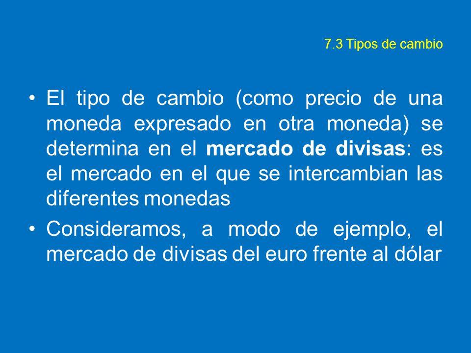 7.3 Tipos de cambio
