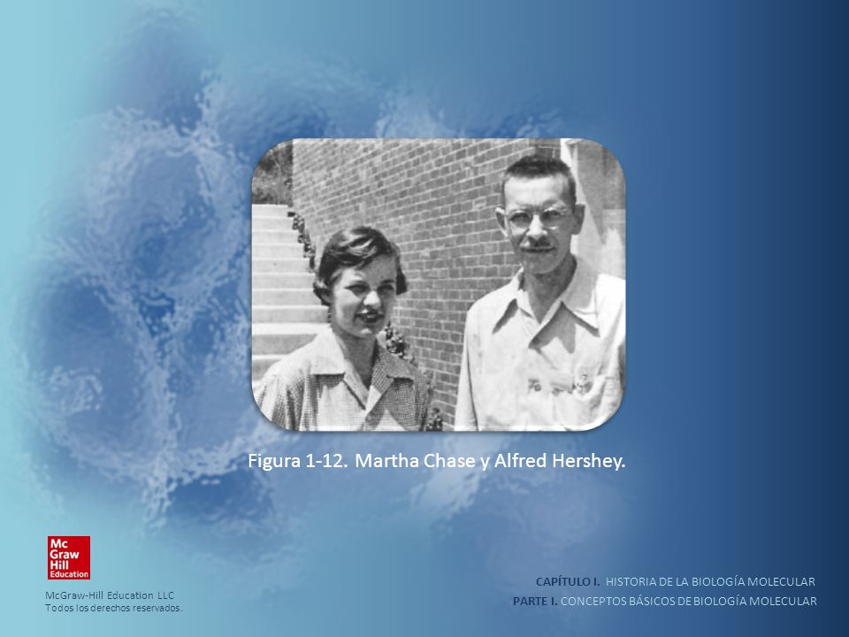 Figura 1-12. Martha Chase y Alfred Hershey.