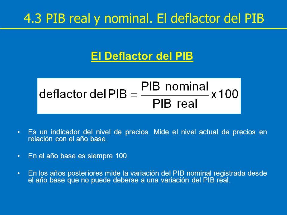 4.3 PIB real y nominal. El deflactor del PIB