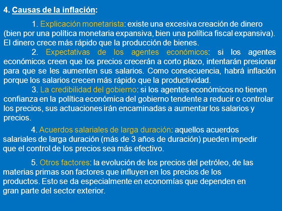 4. Causas de la inflación: