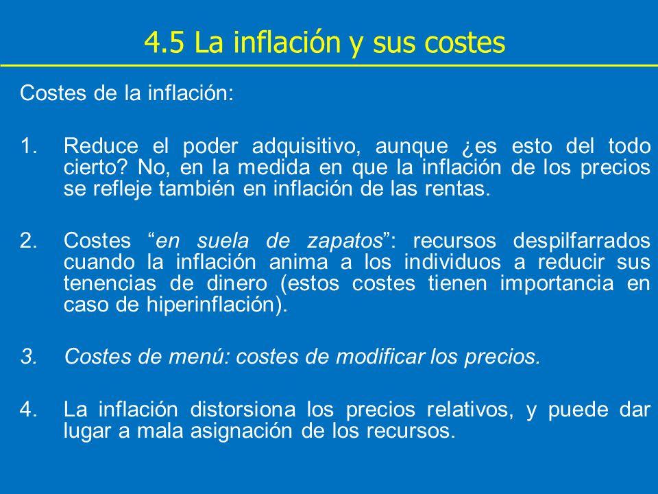 4.5 La inflación y sus costes