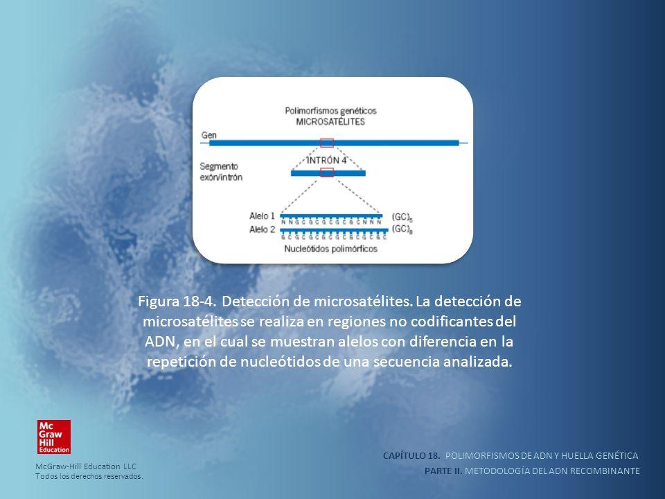 Figura 18-4. Detección de microsatélites