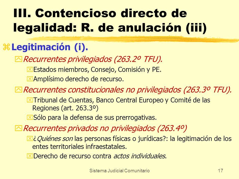 III. Contencioso directo de legalidad: R. de anulación (iii)