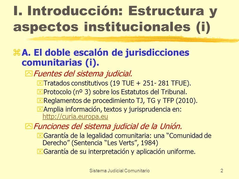 I. Introducción: Estructura y aspectos institucionales (i)