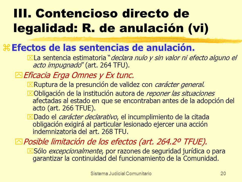 III. Contencioso directo de legalidad: R. de anulación (vi)