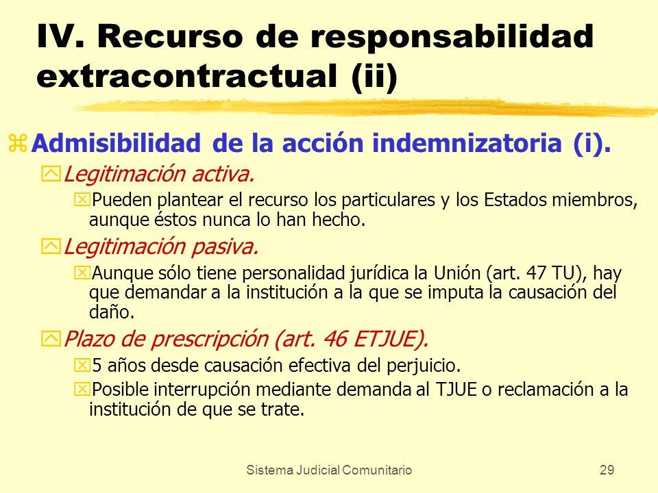 IV. Recurso de responsabilidad extracontractual (ii)