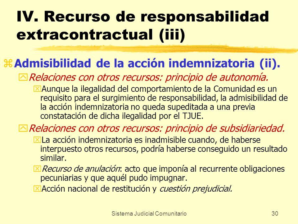 IV. Recurso de responsabilidad extracontractual (iii)