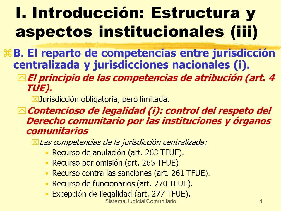 I. Introducción: Estructura y aspectos institucionales (iii)