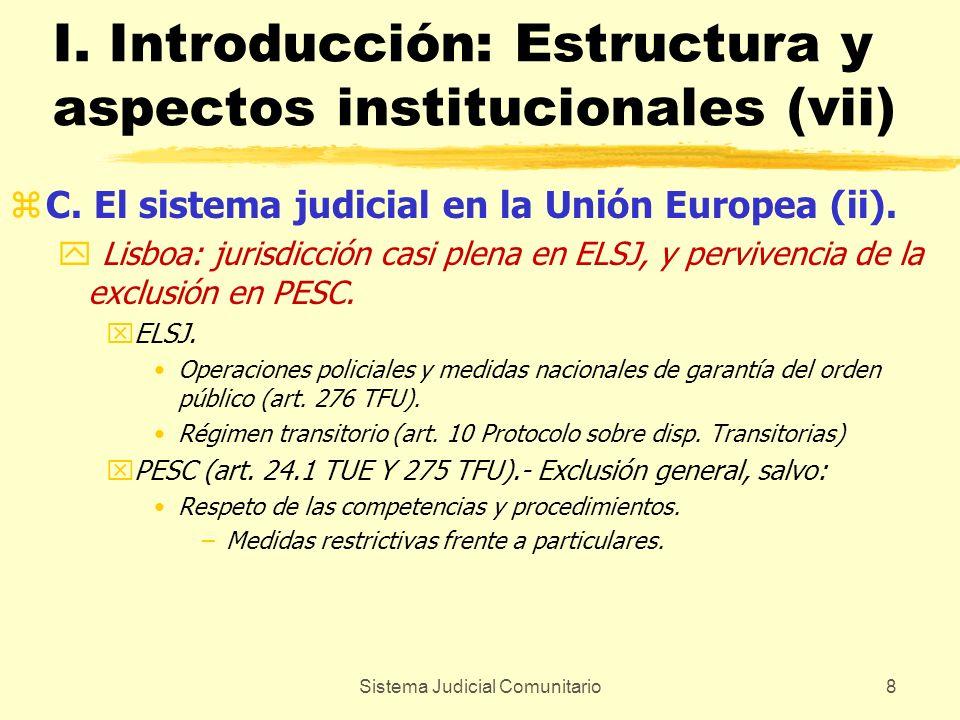I. Introducción: Estructura y aspectos institucionales (vii)