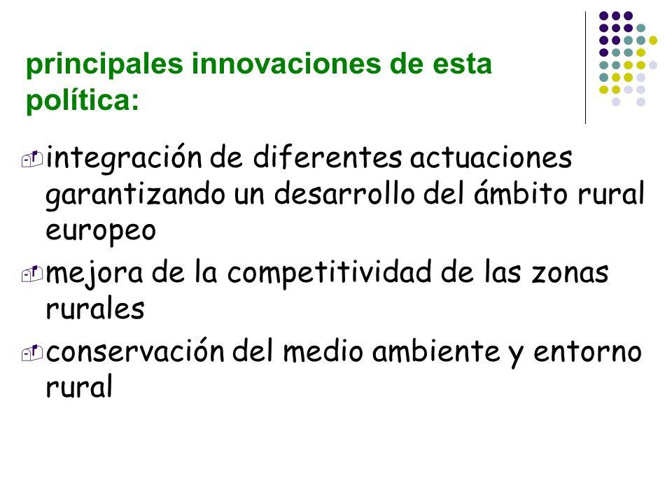 principales innovaciones de esta política: