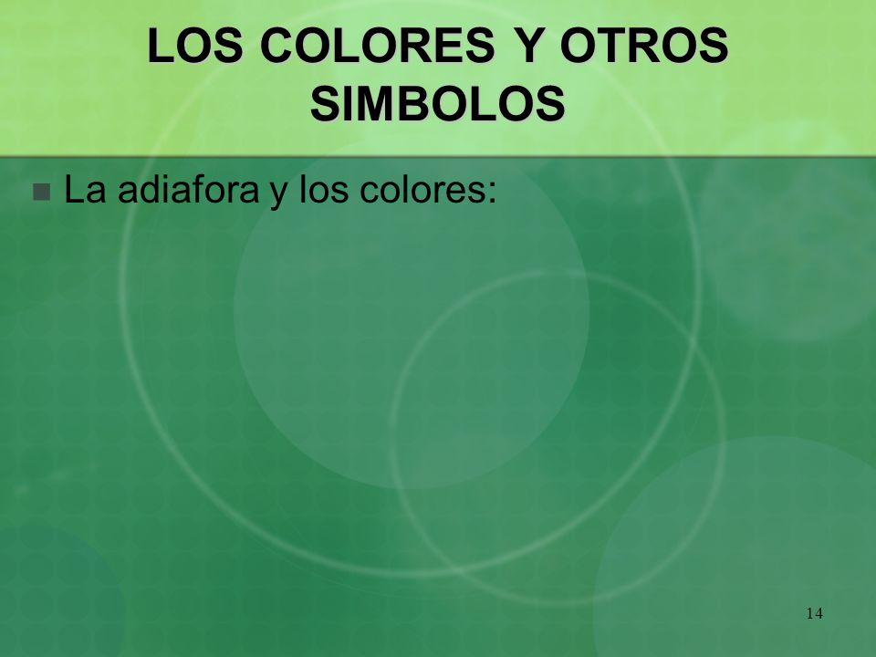 LOS COLORES Y OTROS SIMBOLOS