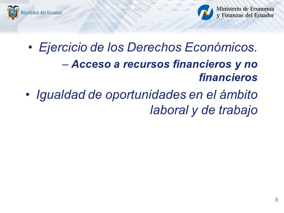 Ejercicio de los Derechos Económicos.