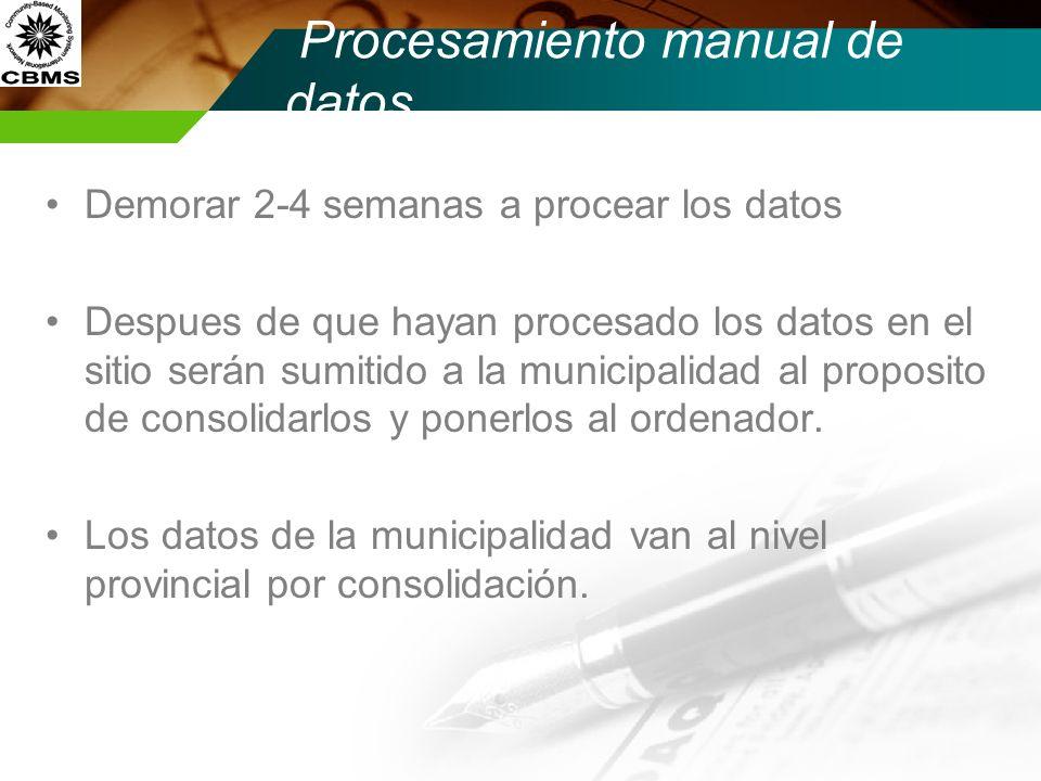 Procesamiento manual de datos
