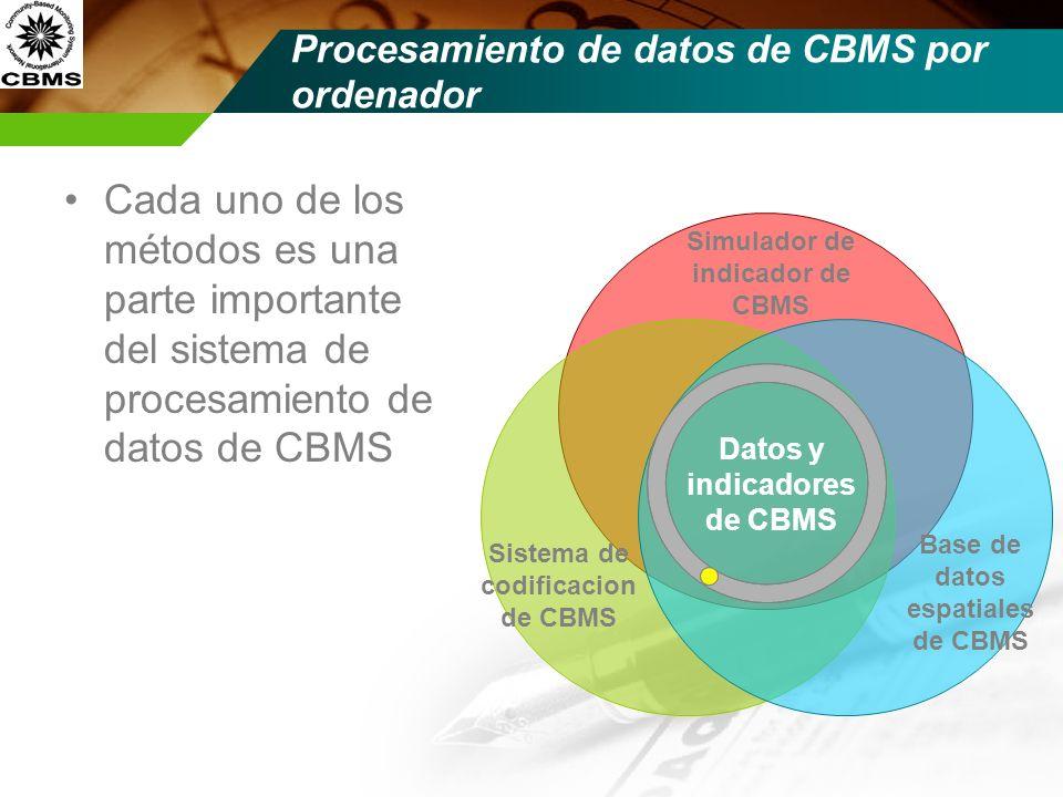 Procesamiento de datos de CBMS por ordenador