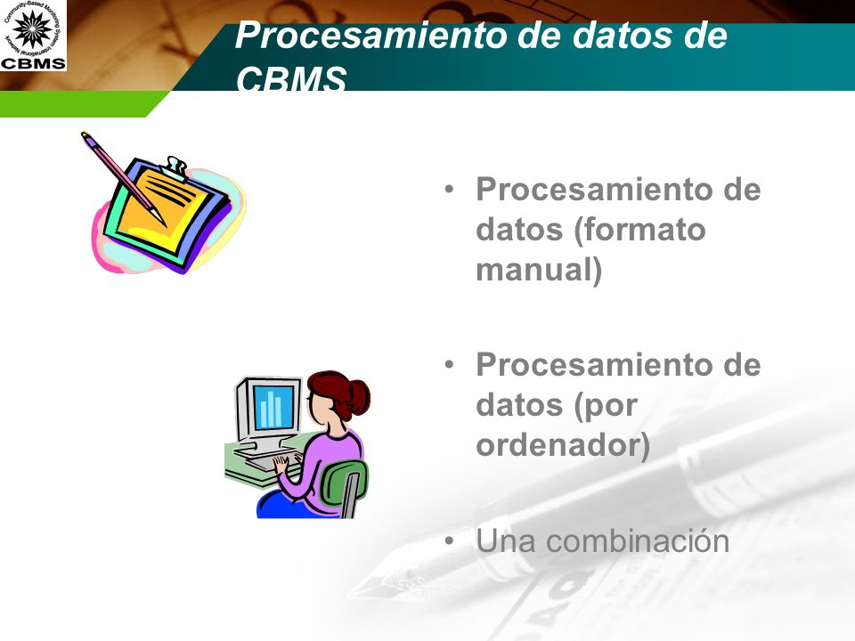 Procesamiento de datos de CBMS