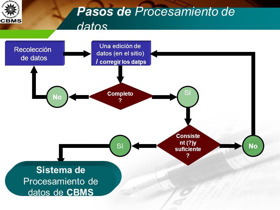 Pasos de Procesamiento de datos