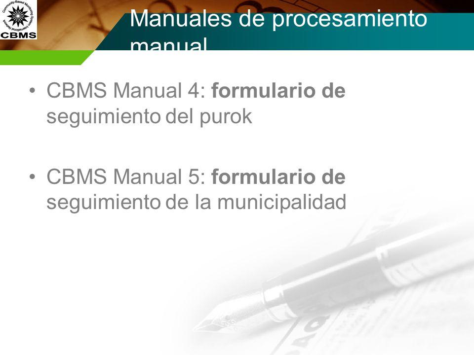 Manuales de procesamiento manual
