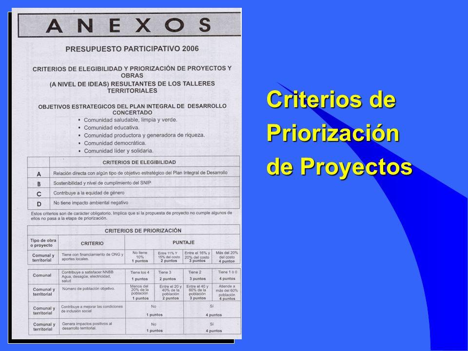 Criterios de Priorización de Proyectos