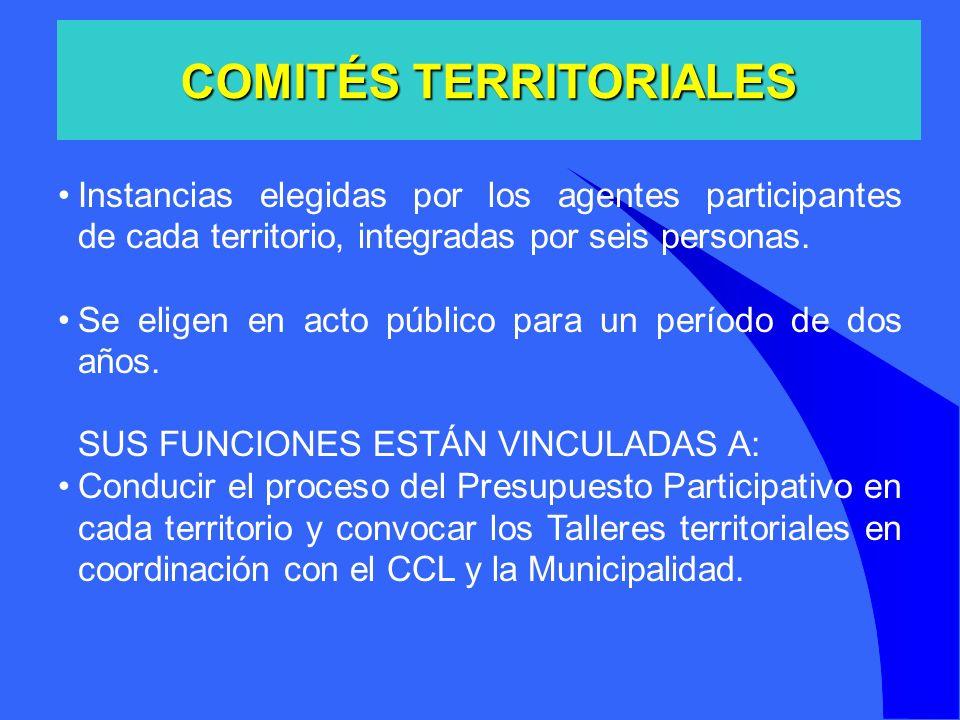 COMITÉS TERRITORIALES