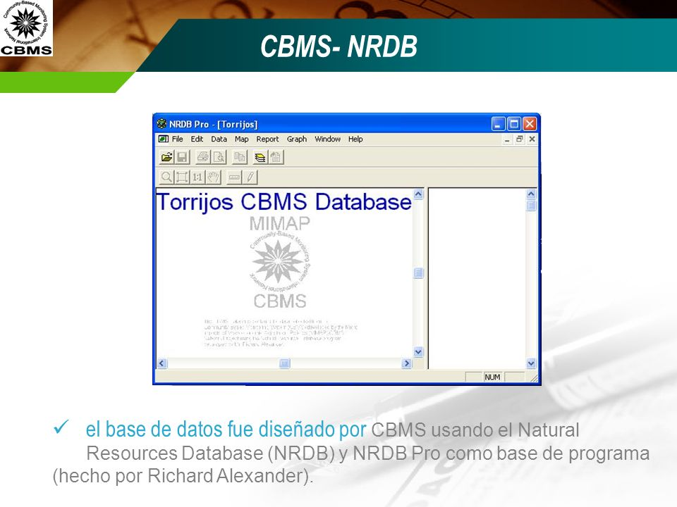 CBMS- NRDB