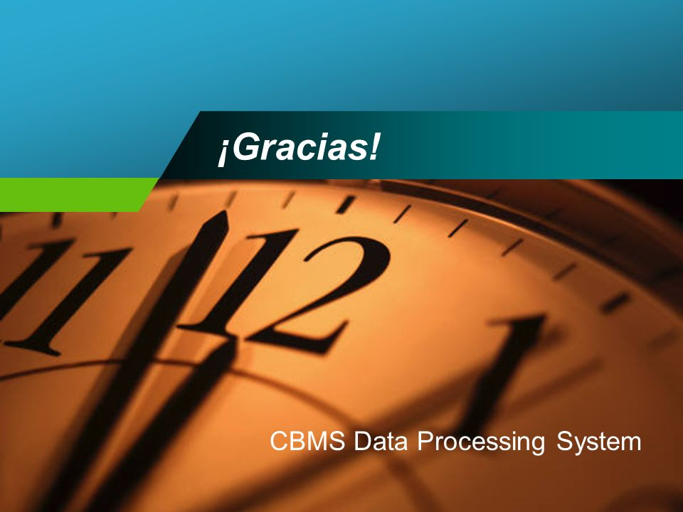 CBMS Data Processing System