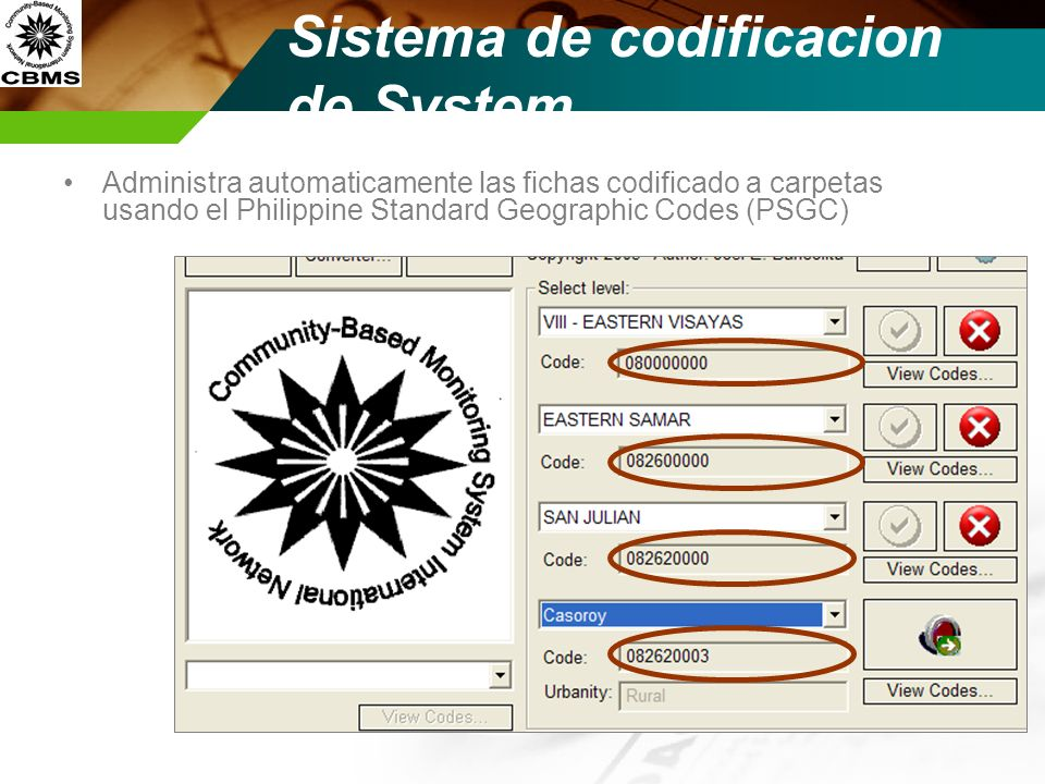 Sistema de codificacion de System