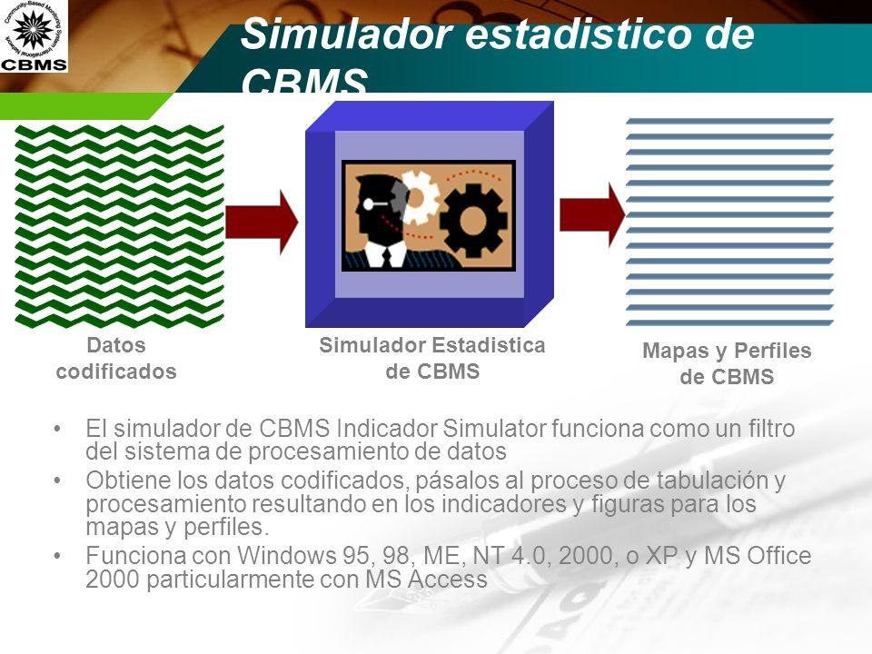 Simulador estadistico de CBMS