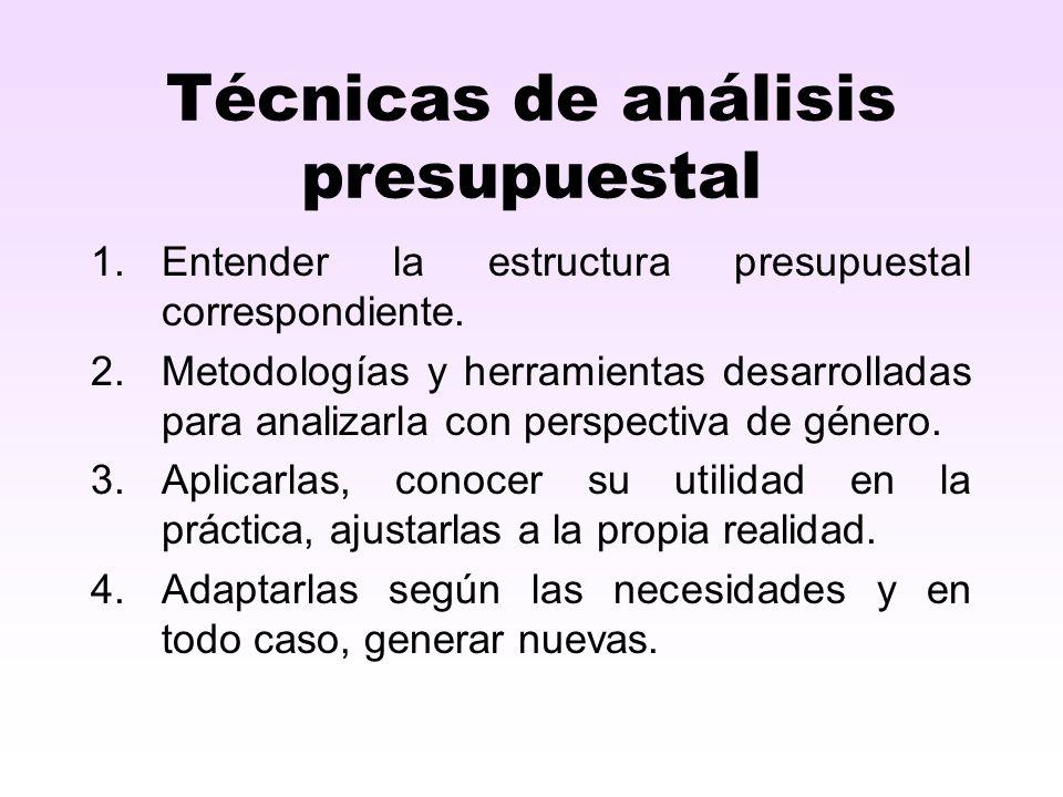 Técnicas de análisis presupuestal